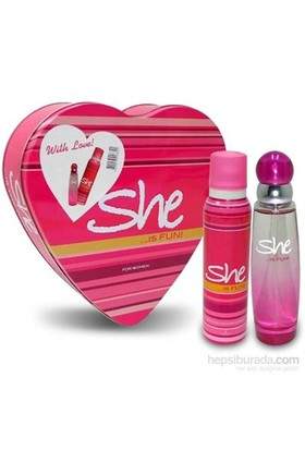 She Is Fun Edt 50 Ml Kadın Parfümü + 150 Ml Deodorant Set