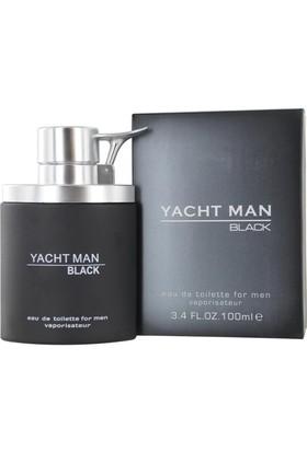 Yacht Man Black Edt For Men 100 Ml