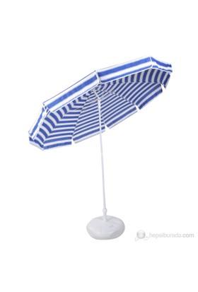 Belde Şemsiye - F 200 Delüks Mavi Beyaz