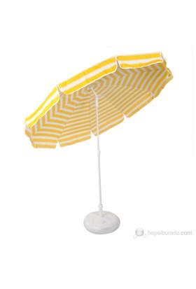 Belde Şemsiye - F 200 Delüks Sarı Beyaz