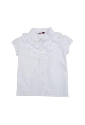 Zeyland Kız Çocuk Beyaz Basic K.Kol Bluz K-41Kl104581