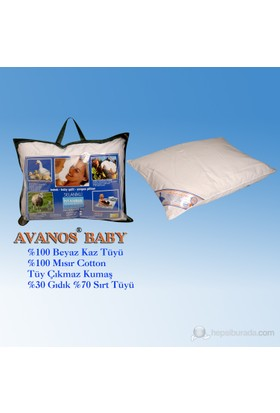 Avanos Bebek Kaz Tüyü Yastık
