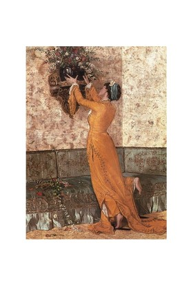 Perre Puzzle Vazo Yerleştiren Kız (1000 Parça)