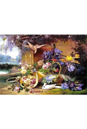 Castorland 2000 Parça Puzzle Elegant Still Life With Flowers