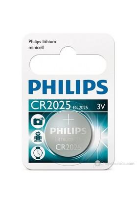 Phılıps Cr2025/01b Düğme Pil Cr2025 Lıthıum 3v (Saat,Hesap Mak,Kamera) Tekli Blister