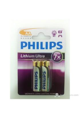 Philips FR06AA Lityum Ultra 7X 2'Li AA Kalem Pil