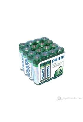 Philips R03L16F AAA 16'lı İnce Kalem Pil