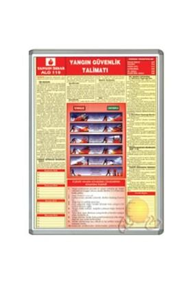 İnter 50x70 Yangın Güvenlik Talimatı Alüminyum Çerçeveli INT-711-7