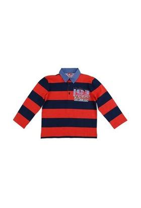Zeyland Erkek Çocuk Lacivert Cizgili Polo T-Shirt K-52Z3dah6