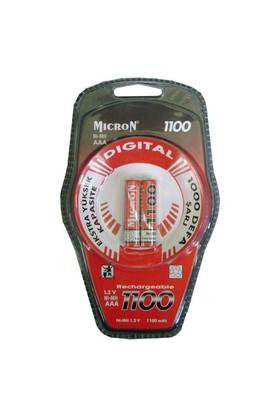Micron 2'li Şarjlı Pil (AAA - İnce) Ni-mh 1100mAh
