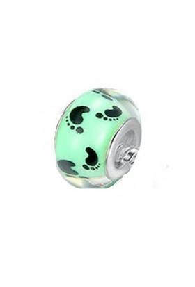 Angemiel Yeşil Ayak İzi Gümüş Murano Charm İle Kendi Tarzını Yarat