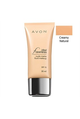 Avon Mat Görünüm Veren Spf15 Fondöten 30 Ml. Creamy Natural