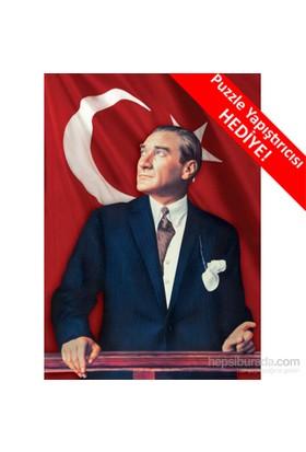 KS Games Puzzle Bayrak ve Atatürk (1000 Parça)