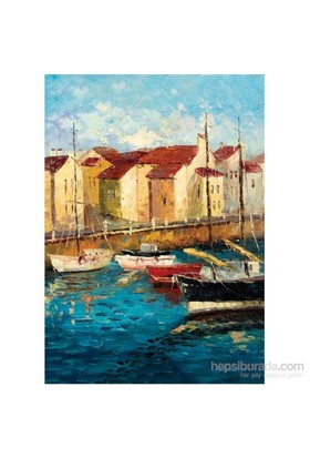 Ks Games Puzzle 500 Parça Sailboats On Waterfront David Fairchild