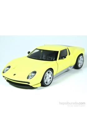 Motormax 1:24 Lamborghini Miura Concept -Sarı Model Araba