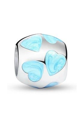 Angemiel Mavi Kalpli Gümüş Kaplama Charm İle Kendi Tarzını Yarat