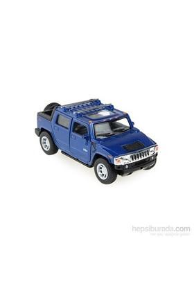 Kinsmart 2005 Hummer H2 SUT Çek Bırak 1/40 Die Cast Model Araç Mavi