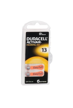Duracell 13 Numara Kulaklık Pili 6Lı Paket