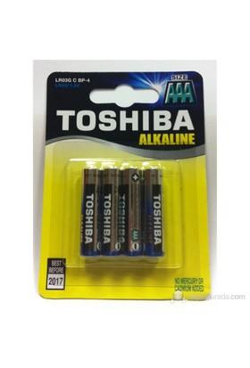 Toshiba LR03 Alkalin AAA 4'lü İnce Kalem Pil