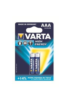 Varta High Energy Güçlü Alkalin Seri İnce Pil - AAA 2'li 4903121412