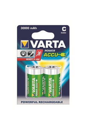 Varta Power Accu Ready 2 Use Orta Pil - C 3.000mAh 2'li 56714101402