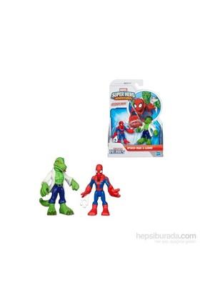 Marvel Super Hero Adventures Spider-Man Lizard Figures