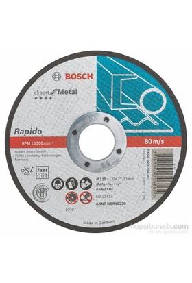 Bosch - Expert Serisi Metal İçin Düz Kesme Diski (Taş) – Rapido - As 60 T Bf, 115 Mm, 1,0 Mm