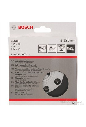 Bosch - Zımpara Tabanı - Yumuşak, 125 Mm