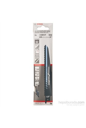 Bosch - Endurance Serisi Ağır Metal İçin Tilki Kuyruğu Bıçağı S 930 Cf - 5'Li Paket