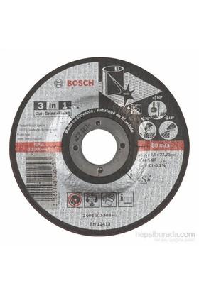 Bosch - 3'Ü Bir Arada Kesici Disk (Taş) - A 46 S Bf, 115 Mm, 2,5 Mm