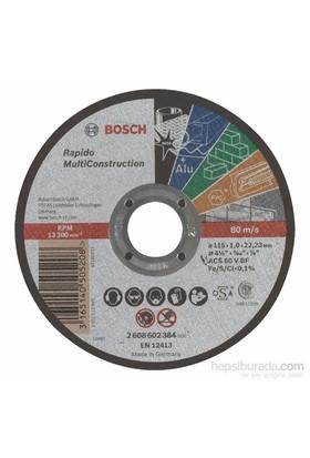 Bosch - Rapido Serisi Çoklu Malzemeler İçin Düz Kesme Diski (Taş) - Acs 60 V Bf, 115 Mm, 1,0 Mm