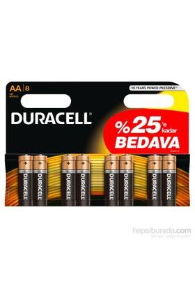 Duracell Alkalin AA Kalem Pil 8'li Paket