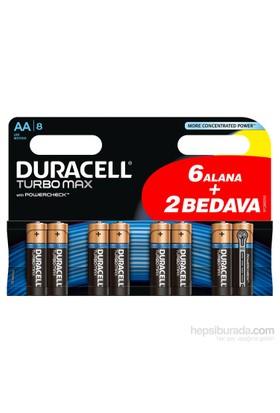 Duracell Turbomax Alkalin AA Kalem Pil 8'li Paket