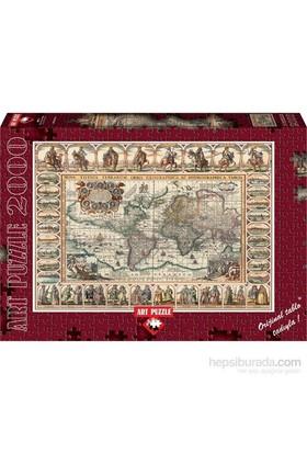 Art Puzzle 2000 Parça (Eski Dünya Haritası)