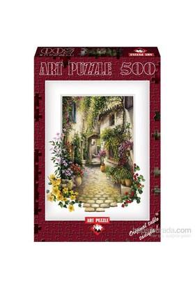Art Puzzle Çiçekli Ara Sokak 500 Parça