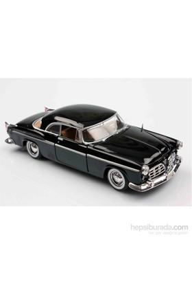 Motomax Siyah 1955 Chrysler C300 1/24 Die Cast Model Araç