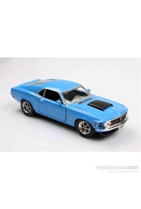 Motomax Mavi 1970 Ford Mustang Boss 429 1/24 Die Cast Model Araç