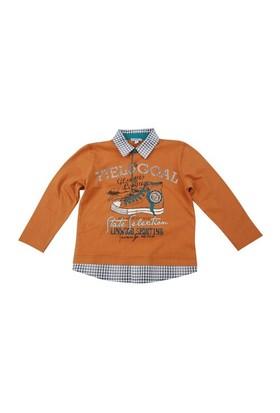 Zeyland Erkek Çocuk Hardal T.Shirt Polo Yaka K-42M523mvd61
