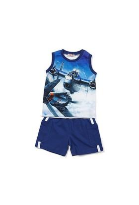 Zeyland Erkek Çocuk Saks Atlet-Şort Takım - K-61Z1UCN78