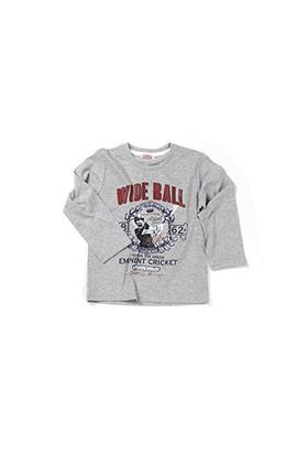 Zeyland Erkek Çocuk Gri Melanj T-Shirt - K-61KL3761