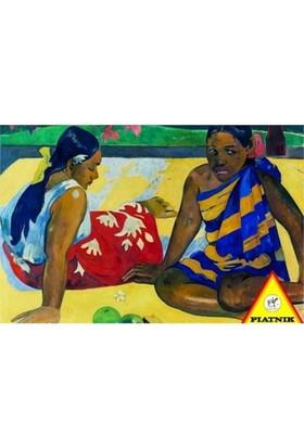Piatnik Puzzle Tahiti'de İki Kadın (1000 Parça)