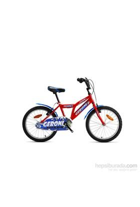 """Geroni Shark 20"""" Kırmızı Mavi Mtb Çocuk Bisikleti 6-9 Yaş"""
