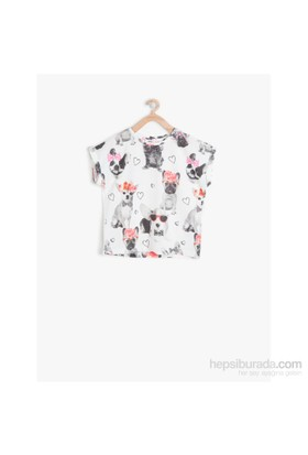 Koton Beyaz T-Shirt Kısa Kol