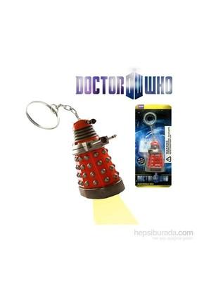 Doctor Who: Red Dalek Flashlight Keychain Anahtarlık