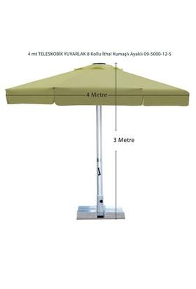 Şemsiye Evi 4 Mt Yuvarlak Teleskobik Şemsiye İthal Kumaş 09-5000-12-S