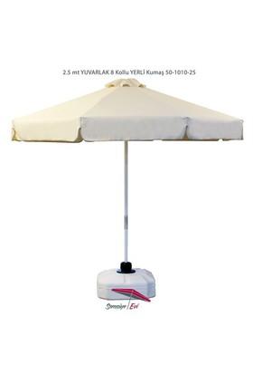 Şemsiye Evi 2.5 Mt Yuvarlak Kıwı Eko Bahçe Şemsiyesi Yerli Kumaş 50-1010-25