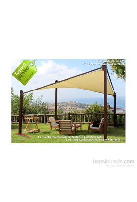 Şemsiye Evi Yarasa Tente 4X4 Metre Gazebo Yerli 10-1001-01