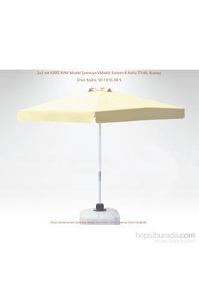 Şemsiye Evi 2X2 Mt Kare Kıwı Eko Bahçe Şemsiyesi Ithal Kumaş 50-1010-30-S