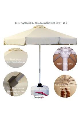 Şemsiye Evi 2.5 Mt Yuvarlak Kıwı Klips Şemsiye Ithal Kumaş 50-1011-25-S
