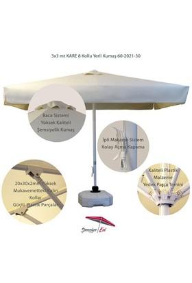 Şemsiye Evi 3X3 Mt Kare Avakado Bahçe Şemsiye Yerli Kumaş 60-2021-30